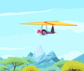 Skydiving Sport Gliding Poster