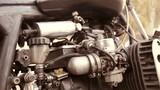 Motorbike motor part close up - 230772157