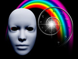 White mask and time spiral - 230774733