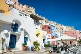 Scenic view of the colorful Mediterranean village of Marina Corricella on the Italian island of Procida - 230776370