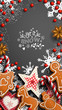 Mobile phone Christmas wallpaper, gingerbread and ornaments