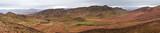 Amazing panorama landscape showing the Atlas Mountains Western Sahara Desert of Morocco