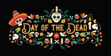 Day of the dead sugar skull typography banner - 230788335