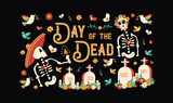 Day of the dead mexican skull celebration card - 230788931