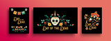 Day of the dead mexican holiday card collection - 230789347