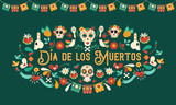 Day of the dead mexican skull art greeting card - 230789954