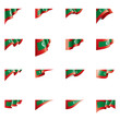 Maldives flag, vector illustration on a white background