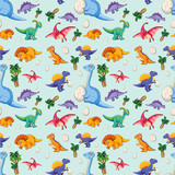 Dinosaur on seamless pattern - 230793993