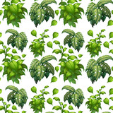 Green leaf seamless pattern - 230794134