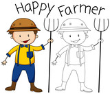 Doodle graphic of farmer - 230794167