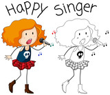 A singer character on white backgroud - 230794377