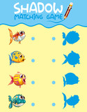 Shadow matching game template - 230794729