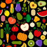 Vegetarian food seamless pattern for healthy diet - 230795540