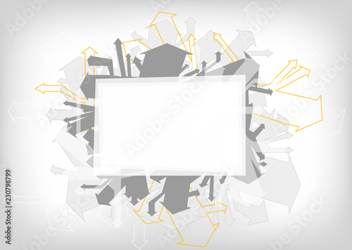 abstract vector illustration background with arrows and copy space
