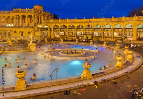 fototapeta na ścianę Szechnyi thermal bath spa in Budapest Hungary