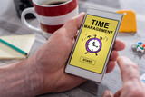 Time management concept on a smartphone