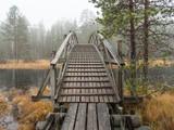 Wooden walking route bridge