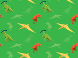 Dinosaurs Wallpaper Vector Illustration 10