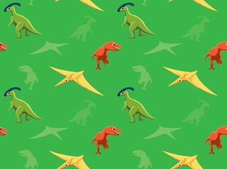 Dinosaurs Wallpaper Vector Illustration 10