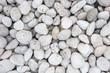 Leinwanddruck Bild - Pile of white pebble stones