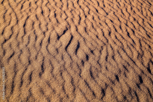 canvas print picture great texture with shadows in the sand desert
