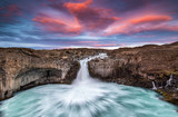 Sunset at Aldeyjarfoss, Iceland