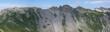 Leinwanddruck Bild - panorama mountain landscape of the Raetikon mountains in the Alps of Switzerland