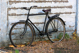 old bycicle near wall - 230846997