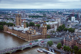 London - May 23, 2017: Palace of Westminster and London cityscape seen from London Eye. The Palace of Westminster is the meeting place of the two houses of the Parliament of the United Kingdom. © marandstock18