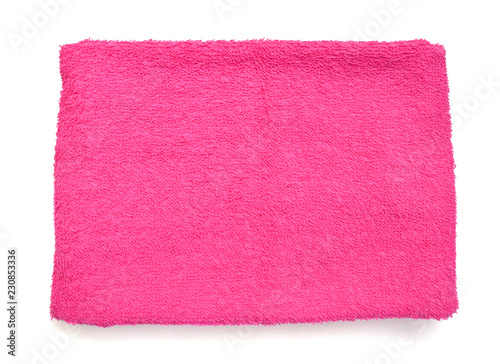 Color towels on a white background - 230853336