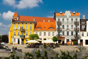 Picture of Gniezno old town streets and building at sunny day