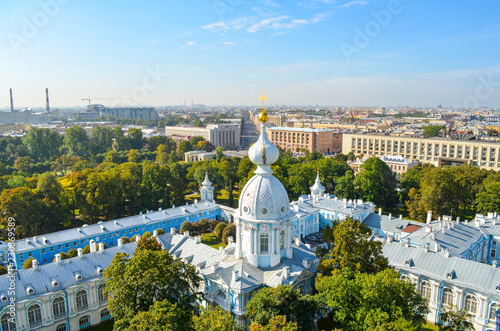 Saint-Petersburg. Part of the architectural ensemble of the Smolny Cathedral - 230869589