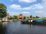 Canal in Workum in Friesland - 230874123