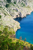 Mountains and the sea. The coast of the Mediterranean Sea. - 230876313