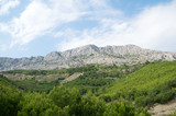 Beautiful huge mountain hills in Dalmatia, Croatia. - 230876381