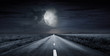 Leinwanddruck Bild - asphalt road night