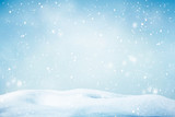 Winter background, falling snow - 230879929