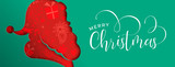 Layered Christmas banner of paper cut santa claus - 230880748