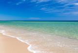 Sea view from tropical beach with sunny sky. Summer paradise beach - 230884758