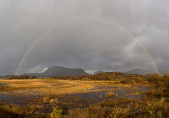 Rainbow in Lofoten, Norway