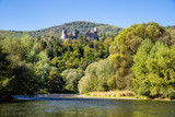 Ruins of Reviste castle over Hron river, Slovakia