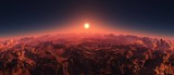 Mars at sunset, the surface of Mars at sunrise,