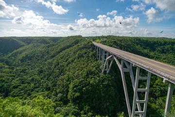 huge bridge against the blue sky © hiddenbercut