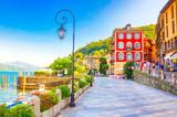 Promenade von Cannobio am Lago Maggiore, Piemont, Italien