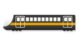 Urban passenger train icon. Cartoon of urban passenger train vector icon for web design isolated on white background