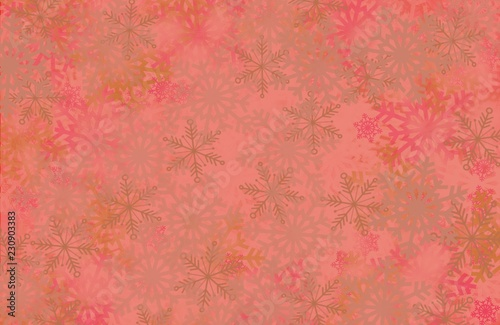 Snowflake border soft focus abstract winter wonderland pastel colors blurred background with space for text, corner elements and frame design - 230903383