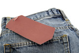 Jeans with blank paper price tag - 230909701