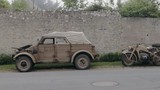 World war 2 motorcycle and jeep in normandy - 230915103
