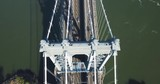 Top Aerial View Of The Traffic Road On The Brooklyn Bridge New York - 230915948