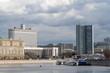 Краснопресненская набережная, здание Правительства Российской Федерации (Белый дом) и  здание Правительства Москвы (дом Книжка).